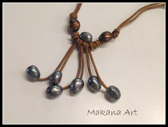 Workshop: Audora Leather and Pearl Necklace