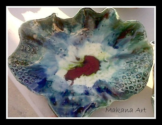 Pottery Art Volcano Bowl  (SOLD!)