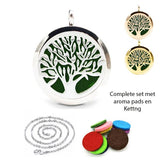 Living Zenzes Zilver Aroma Ketting Tree of Life