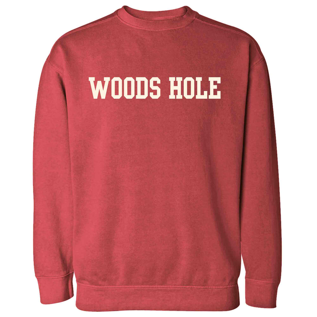 Men's Crimson Woods Hole Crew Neck Sweatshirt