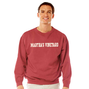 Men's Crimson Martha's Vineyard Crew Neck Sweatshirt