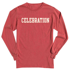 Men's Crimson Long Sleeve Celebration T-Shirt