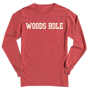 Men's Crimson Long Sleeve Woods Hole T-Shirt