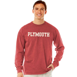 Men's Crimson Long Sleeve Plymouth T-Shirt