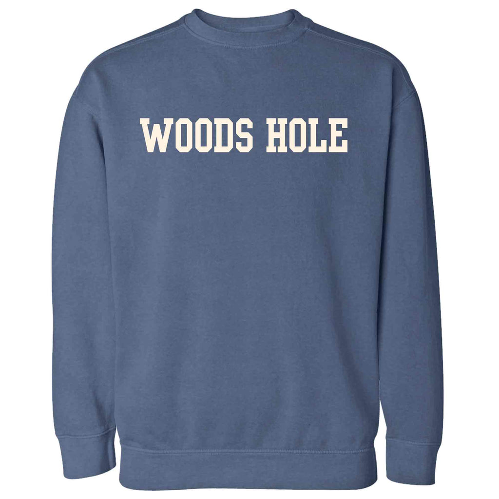 Men's Denim Woods Hole Crew Neck Sweatshirt