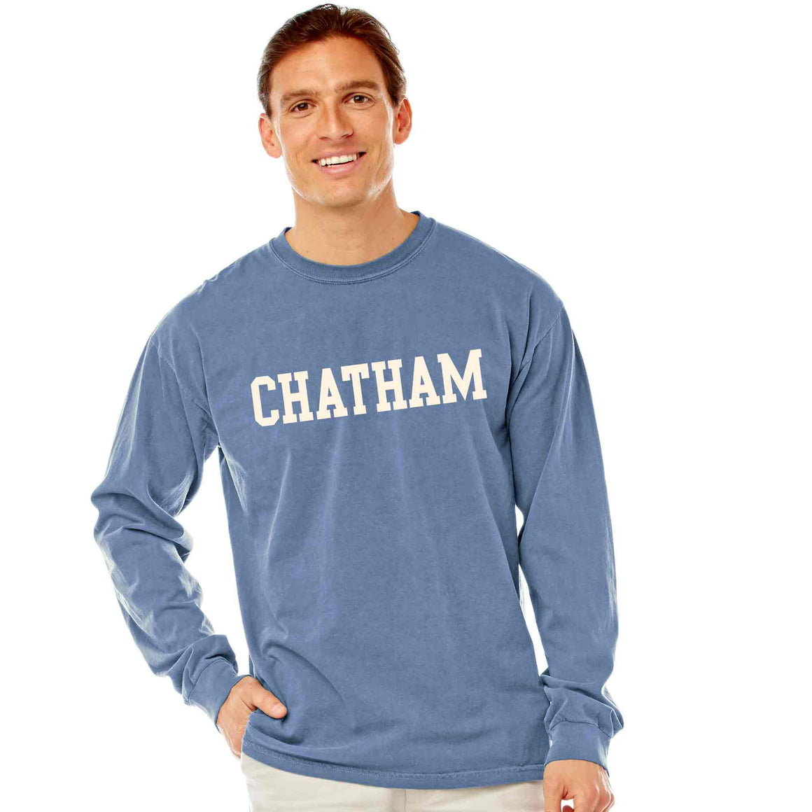 Men's Denim Long Sleeve Chatham T-Shirt