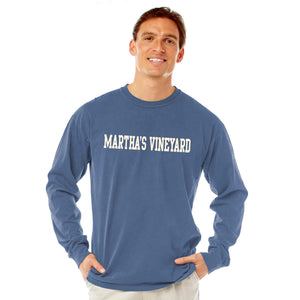 Men's Denim Long Sleeve Martha's Vineyard T-Shirt