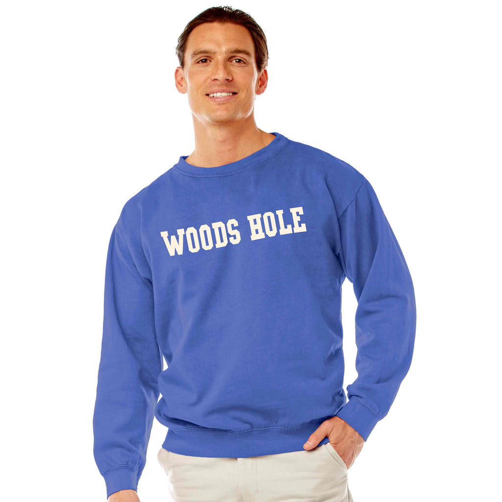 Men's Periwinkle Woods Hole Crew Neck Sweatshirt
