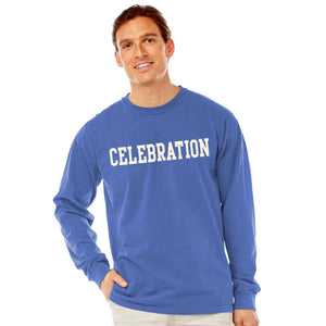 Men's Periwinkle Long Sleeve Celebration T-Shirt