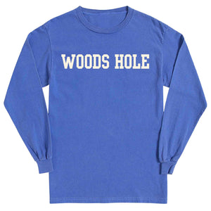 Men's Periwinkle Long Sleeve Woods Hole T-Shirt