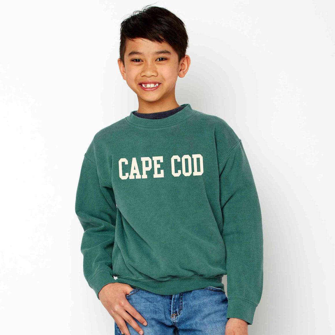 Youth Cape Cod Block Crew Sweatshirt