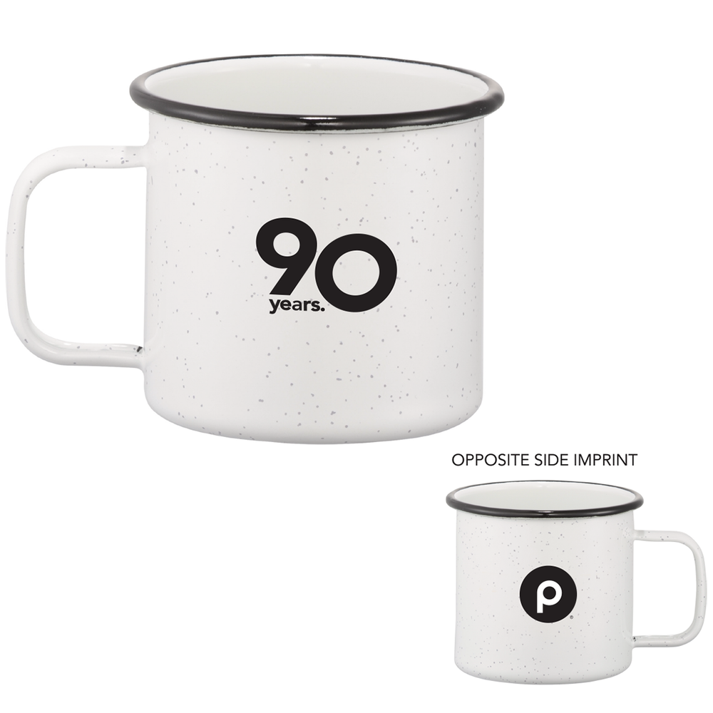 90th Anniversary Speckled Enamel Metal Cup 16oz