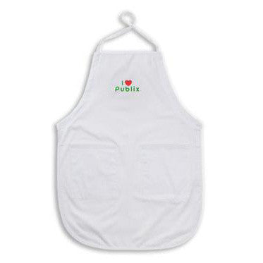 White Full Length I Heart Publix Apron