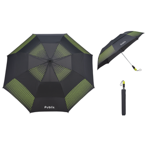 "58"" Slazenger Vented, Auto Open Folding Golf Umbrella"