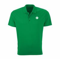 Vansport™ Omega Solid Mesh Tech Polo - Lawn Green