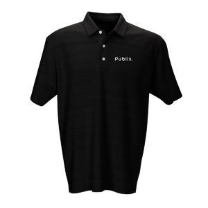 Strata Textured Polo - 2 Color Choices (SILVER OR BLACK)