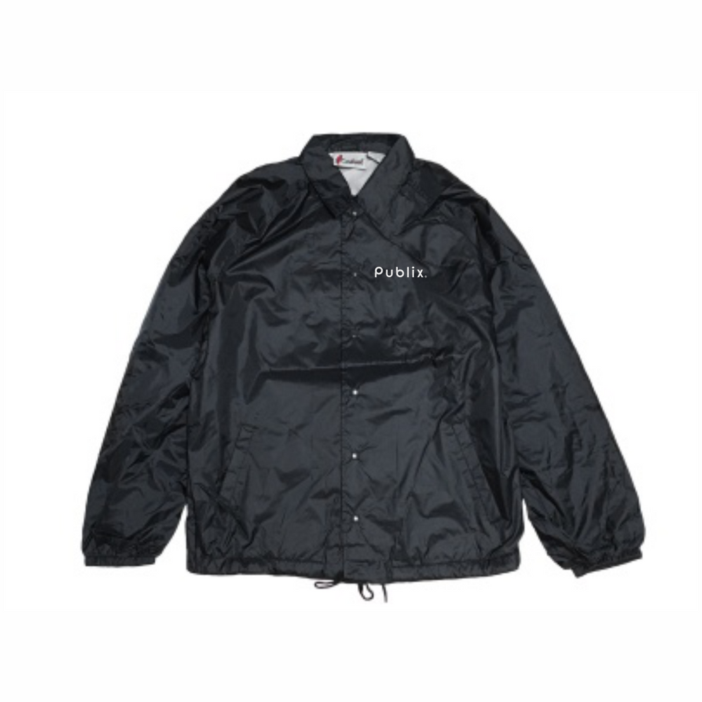 Lined Nylon Windbreaker - BLACK