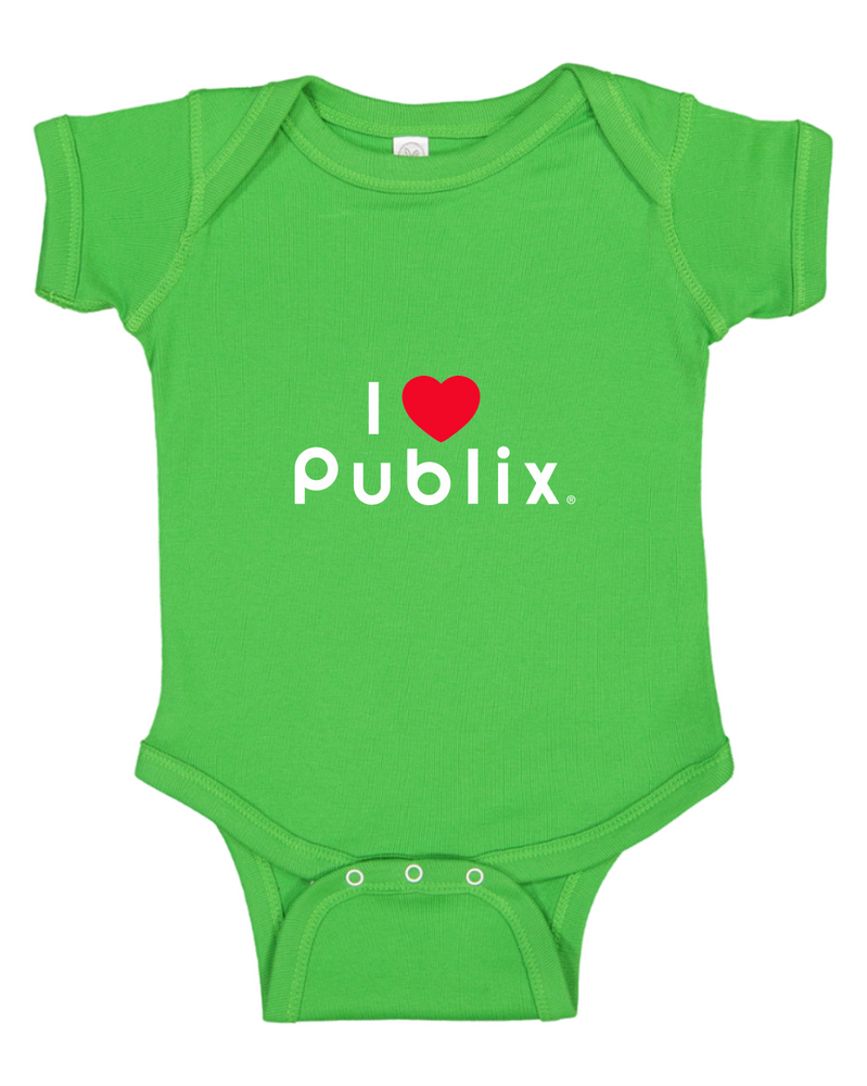 I Heart Publix Infant Onesie Green Publix Company Store By Partner Marketing Group