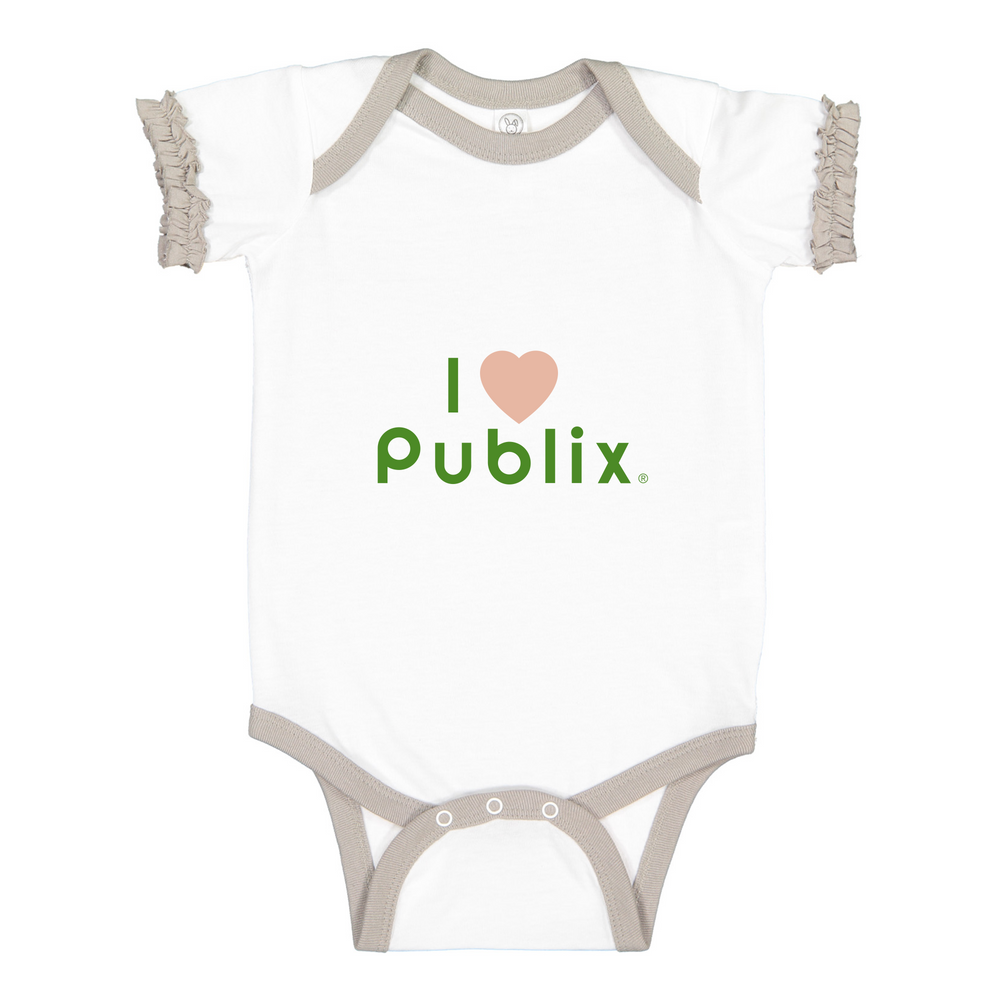 I Heart Publix Fruity Infant Girl Ruffle Bodysuit