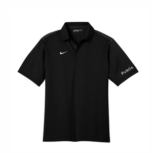 Nike Dri-FIT Sport Swoosh Pique Polo - Black
