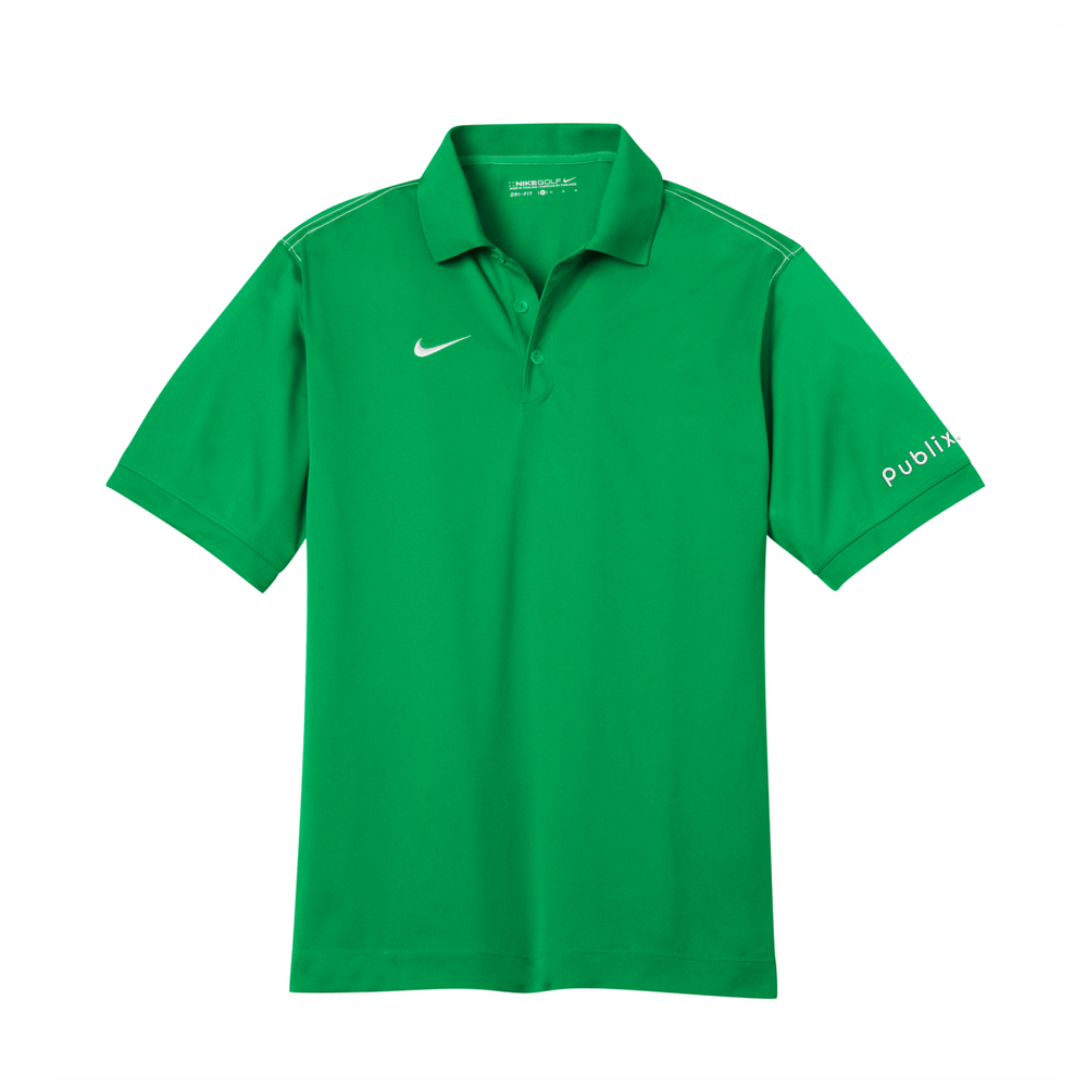 *Nike Dri-FIT Sport Swoosh Pique Polo - Lucky Green