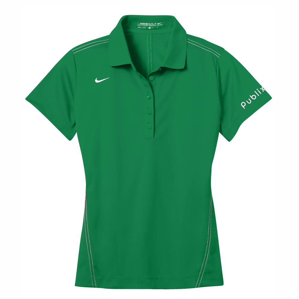 *Nike Ladies Dri-FIT Sport Swoosh Pique Polo - Lucky Green