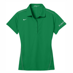 Nike Ladies Dri-FIT Sport Swoosh Pique Polo - Lucky Green