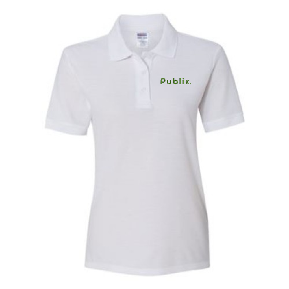 Ladies Easy Care Polo - White