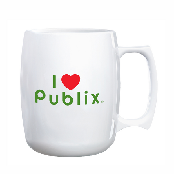 Courier Acrylic 14 ounce I (Heart) Publix Coffee Mug