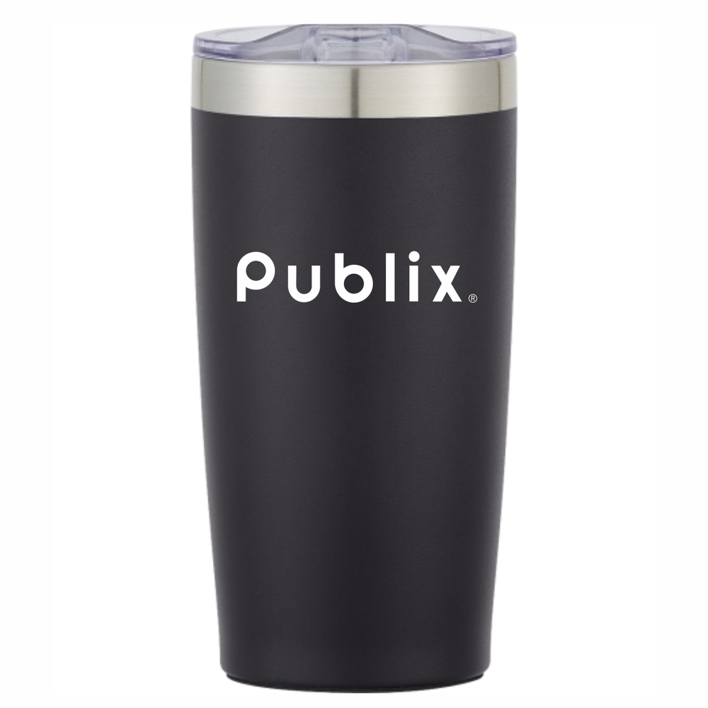 20 oz. Two Tone Himalayan Tumbler - Black with PUBLIX logo