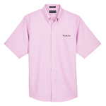 UltraClub Men's Classic Wrinkle-Resistant Short-Sleeve Oxford - Pink