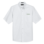 UltraClub Men's Classic Wrinkle-Resistant Short-Sleeve Oxford - White