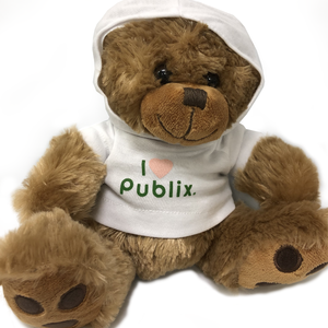 "8 1/2"" Big Paw Bear with Hoodie"