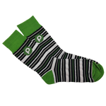 Publix Striped Knitted Dress Socks - Green With Brandmark