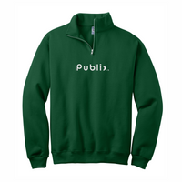 Cadet Collar Forest Green Fleece Sweatshirt
