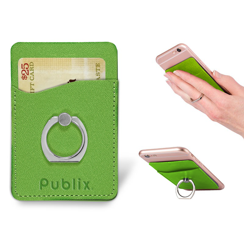 Tuscany Card Holder with Metal Ring Phone Stand