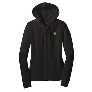 District ® Ladies Fitted Jersey Full-Zip Hoodie