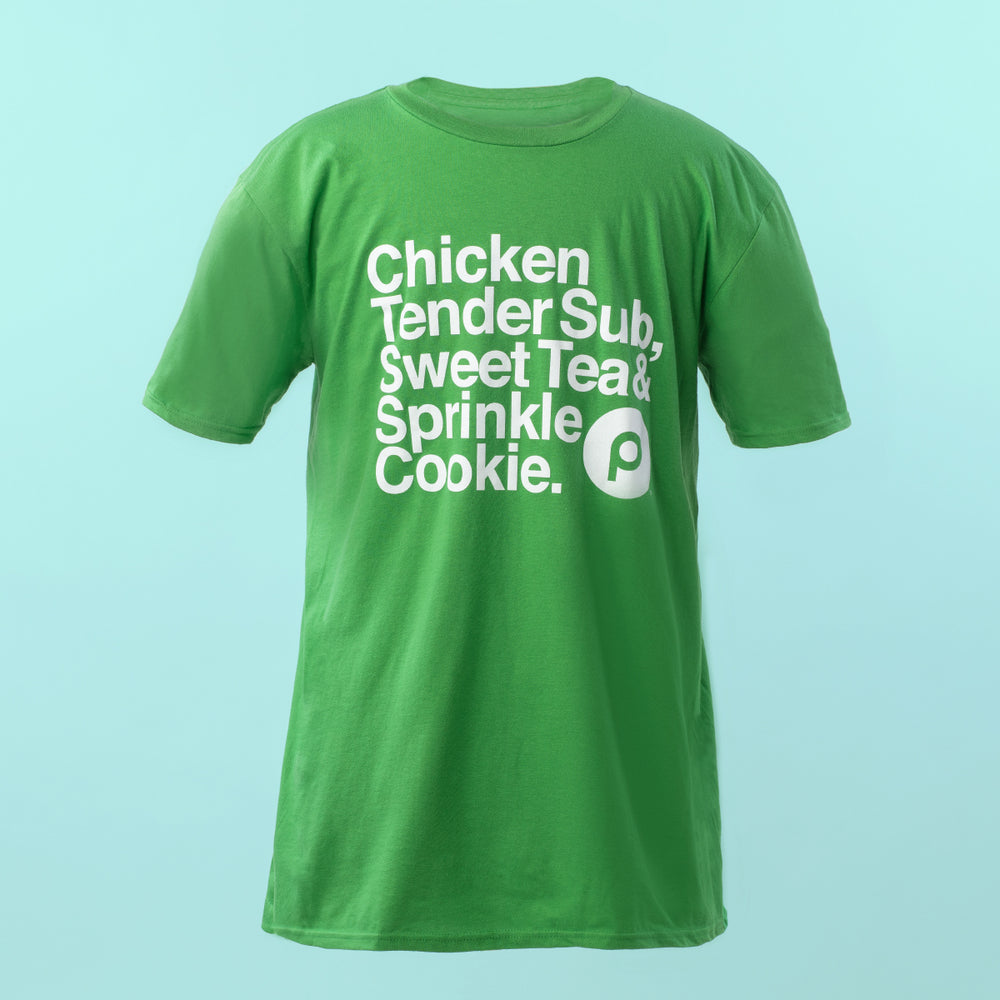 Chicken Tender Sub Lightweight Ringspun T-Shirt: Green
