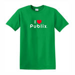 I Heart Publix Youth T-Shirt - Green