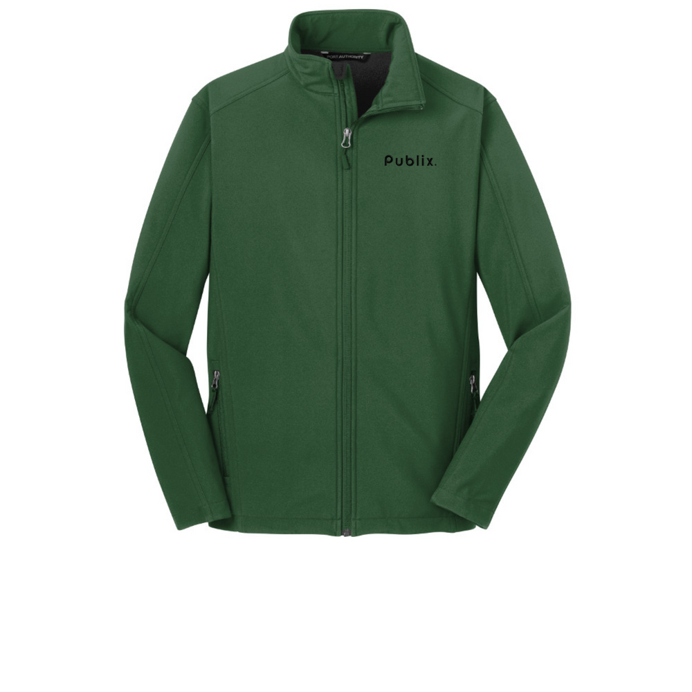 Men's Forest Green Core Soft Shell Jacket by Port Authority