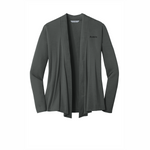 Port Authority® Ladies Concept Knit Cardigan - Grey Smoke