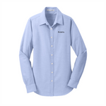 Ladies Port Authority  SuperPro Oxford Blue Shirt