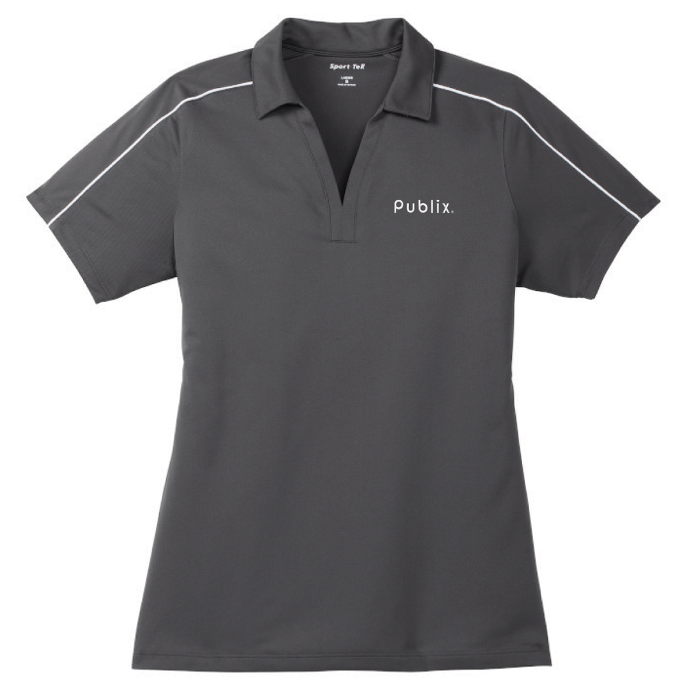 *Sport-Tek® Ladies Micropique Sport-Wick® Piped Polo