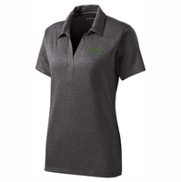 Sport-Tek® Ladies Heather Contender™ Polo - Graphite Heather