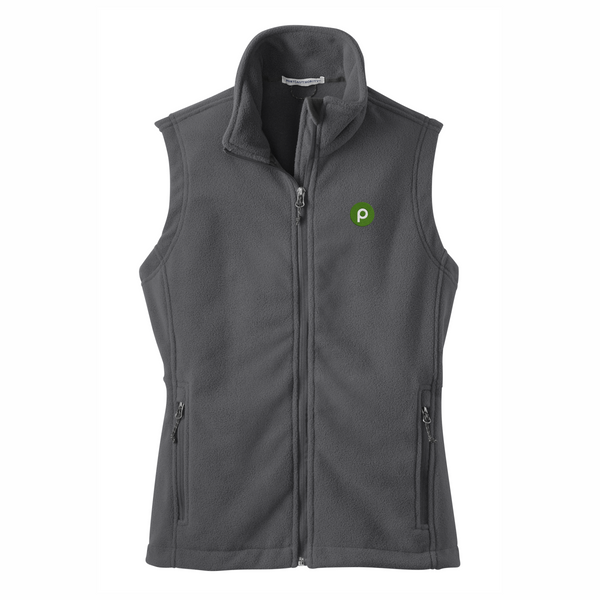 Ladies Iron Grey Fleece Vest by Port Authority