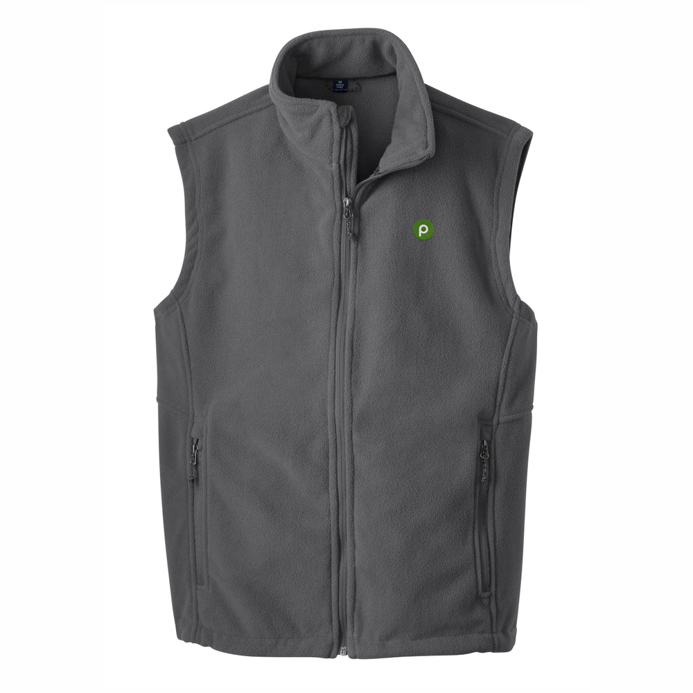 Men's Iron Grey Fleece Vest by Port Authority