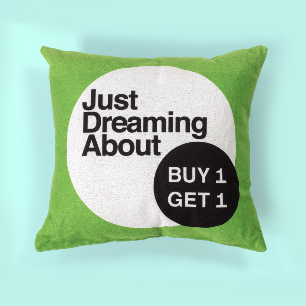 "NEW! ""Dreaming About BOGO"" Pillow"
