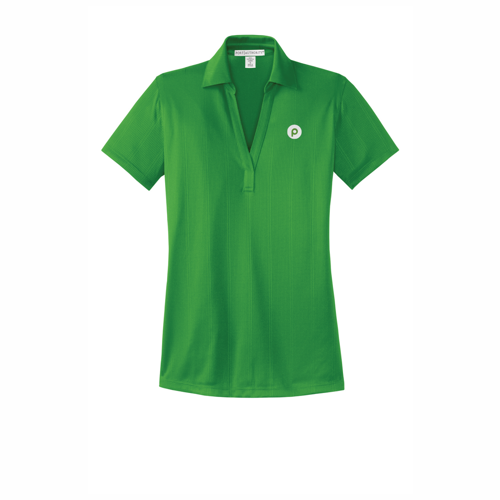 Port Authority Ladies Performance Fine Jacquard Polo - Vine Green