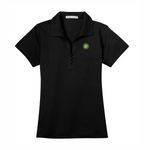 Port Authority Ladies Tech Pique Polo - Black