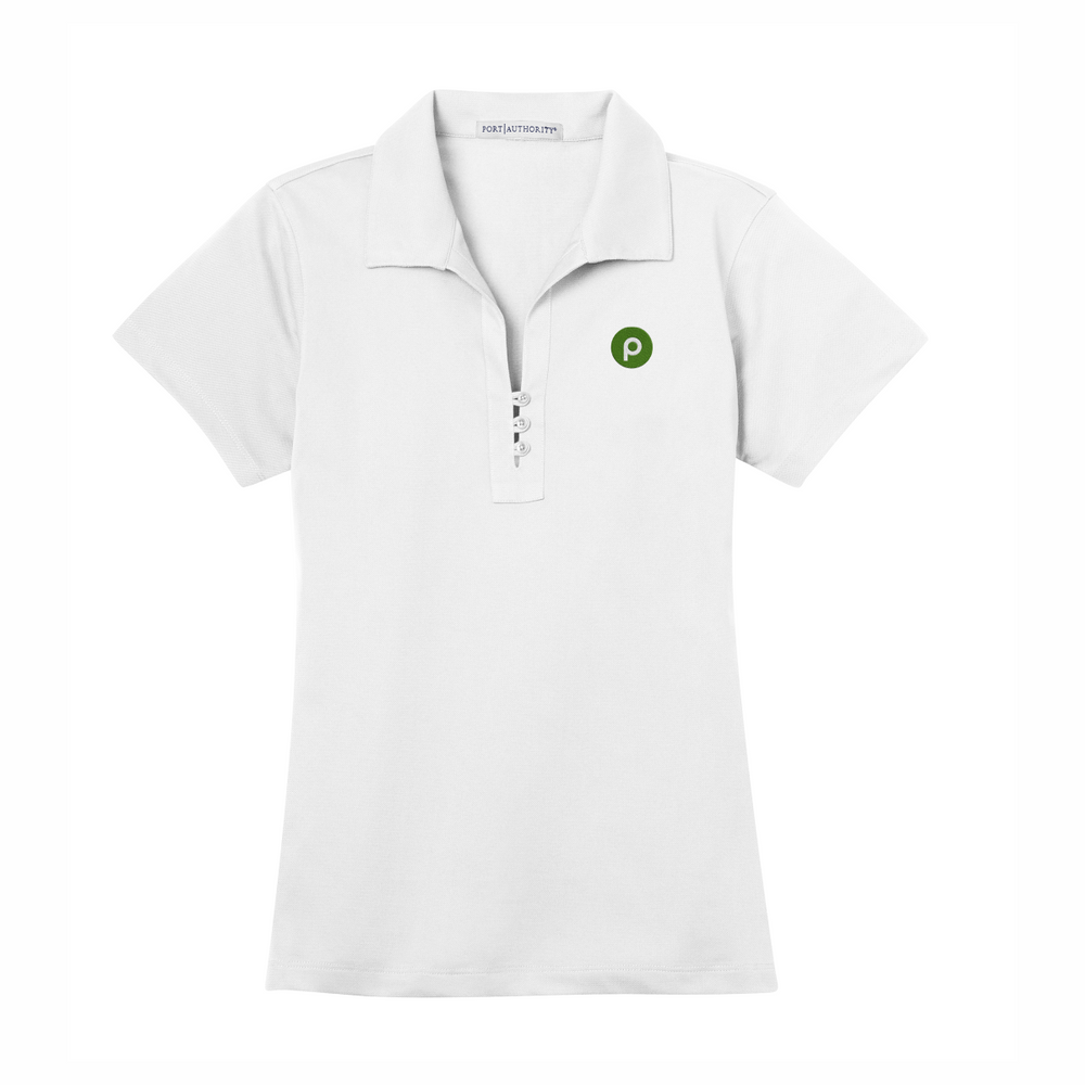 Port Authority Ladies Tech Pique Polo - White